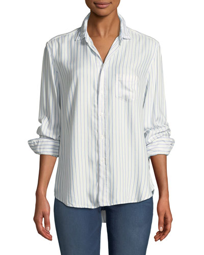 Eileen Long-Sleeve Button-Front Shirt
