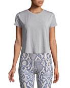 Effie Crewneck Short-Sleeve Crop Top