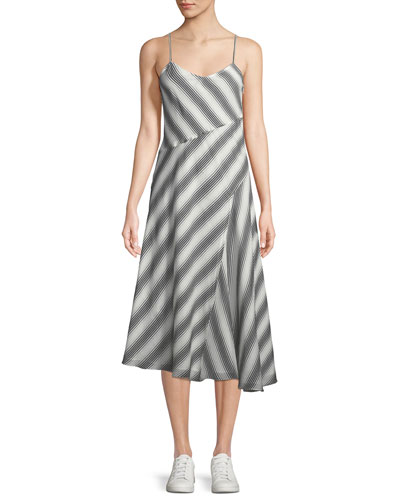 dbf67011be4a Quick Look. Theory · Summer Athens Spaghetti-Strap Striped Dress