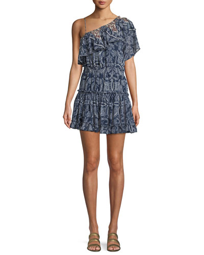 Ezri Off-the-Shoulder Printed Mini Dress