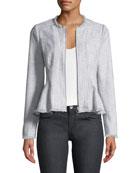 Slub Suiting Zip-Front Jacket