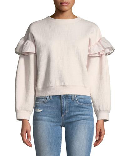 Ruffle Crewneck Sweatshirt