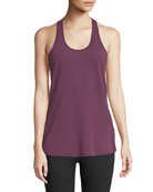 Workout Scoop-Neck Racerback Performance Tank
