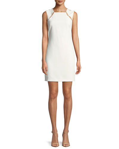 Kristiana Fitted Cocktail Sheath Dress W/ Inserts
