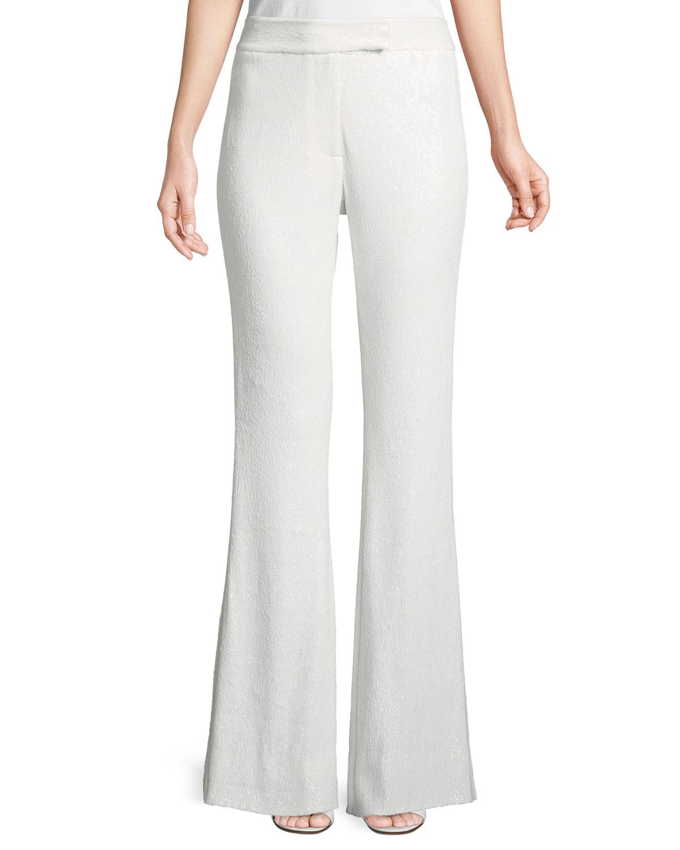Linda Sequin Wide-Leg Pants