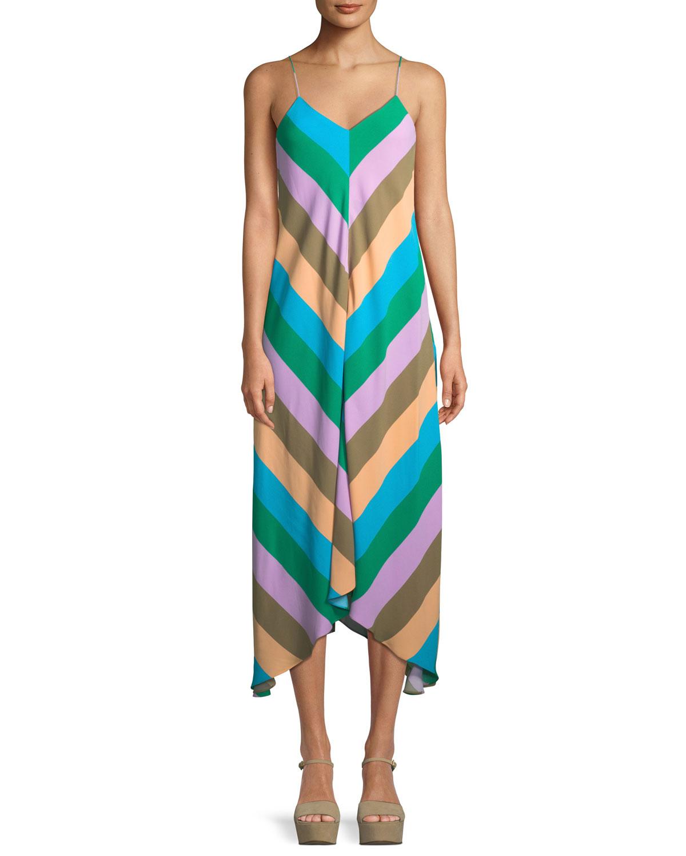 Julian Striped Slip Dress