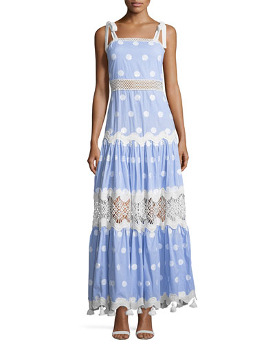 Ada Striped Embroidered Maxi Dress