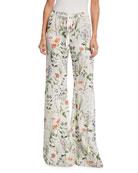 Pearson Floral-Print Pajama Pants