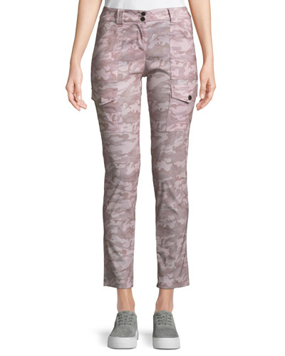Kate Slim Rose Camo Cargo Pants