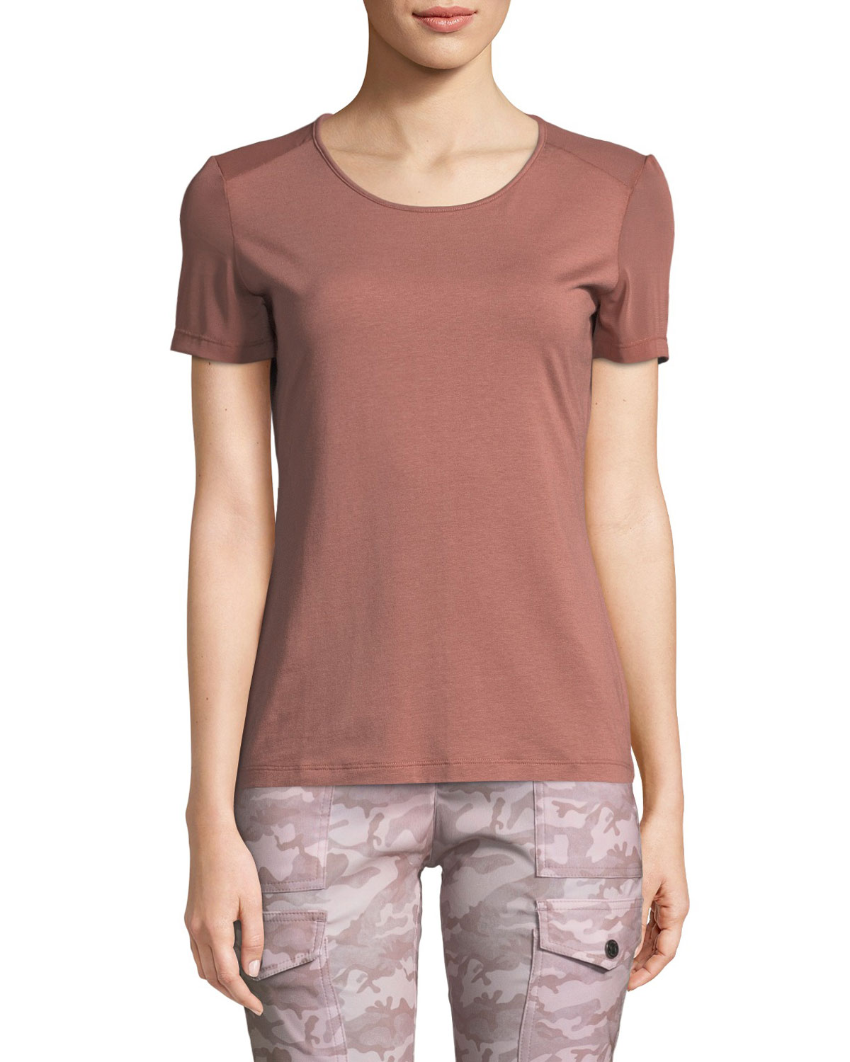 ANATOMIE Summer Melissa Sheer Tee, Light Blush | ModeSens