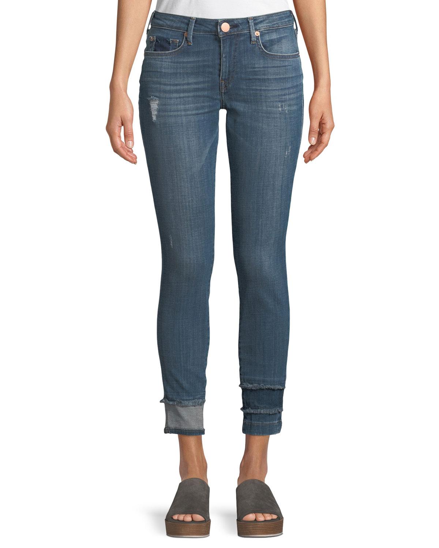 Jennie Curvy Skinny-Leg Jeans with Hem Detail