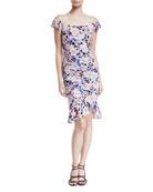 Seductress Off-the-Shoulder Floral Dress