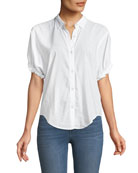 Boyfriend Short-Sleeve Button-Up Shirt