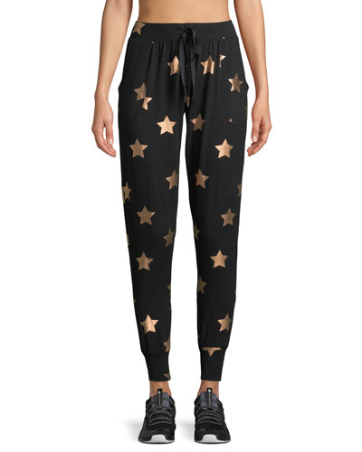 Star-Print French Terry Jogger Pants