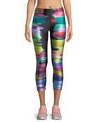 Paint Swatch Performance Capri Leggings