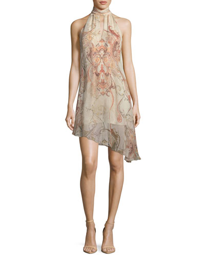 Morrison Slayer Sleeveless Halter Silk Dress