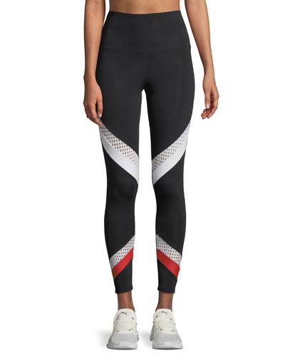 Sporty Mesh Performance Leggings