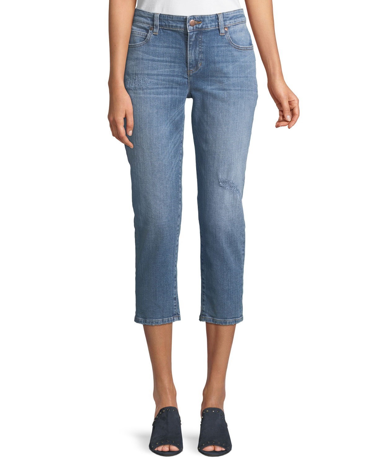 Cropped Tapered Jeans