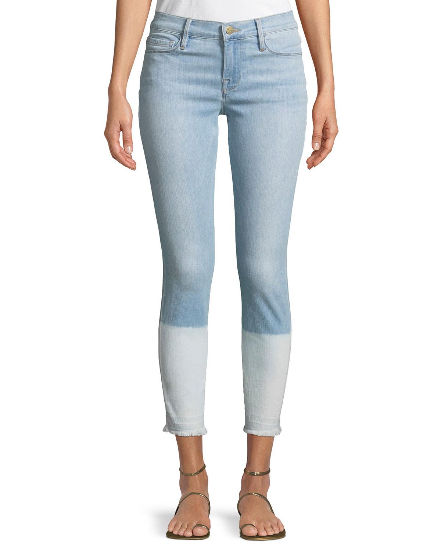 Le Skinny de Jeanne Crop Released-Hem Jeans