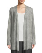 Organic Linen-Blend Striped Cardigan