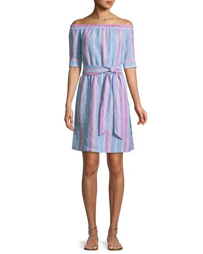 0aae31a0b53 Striped Linen Dress