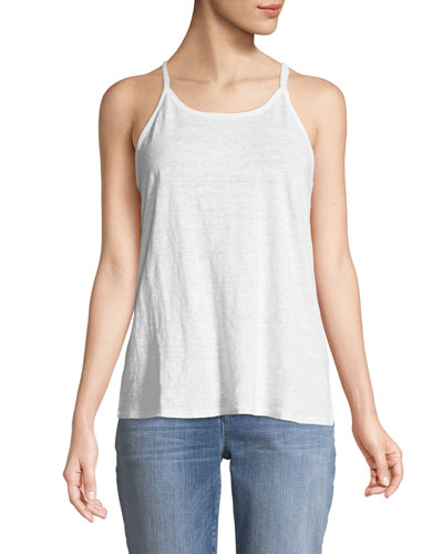 Organic Linen Jersey Strappy Tank Top
