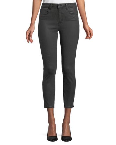 Margot High-Rise Coated Skinny-Leg Jeans