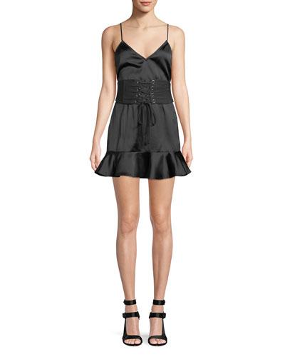 Annie Laced Corset Mini Cocktail Dress