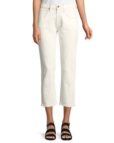Straight-Leg Crop Jeans