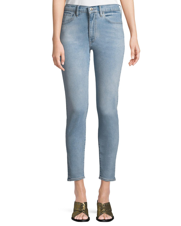 Sliver High-Rise Ankle Skinny Jeans