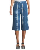 Tie-Dye Denim Summer Culotte