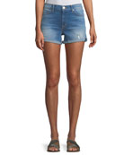 Valeri Cuffed Denim Shorts