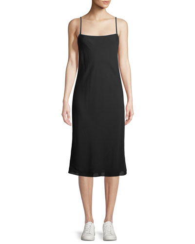Silk Combo Slip Dress