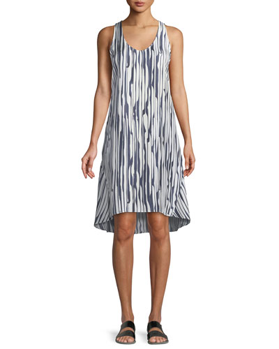 Adlerdale Broken-Stripe Silk Twill Dress