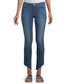 Acynetic Loren Kaylor Skinny Jeans w/ Grommet Asymmetric