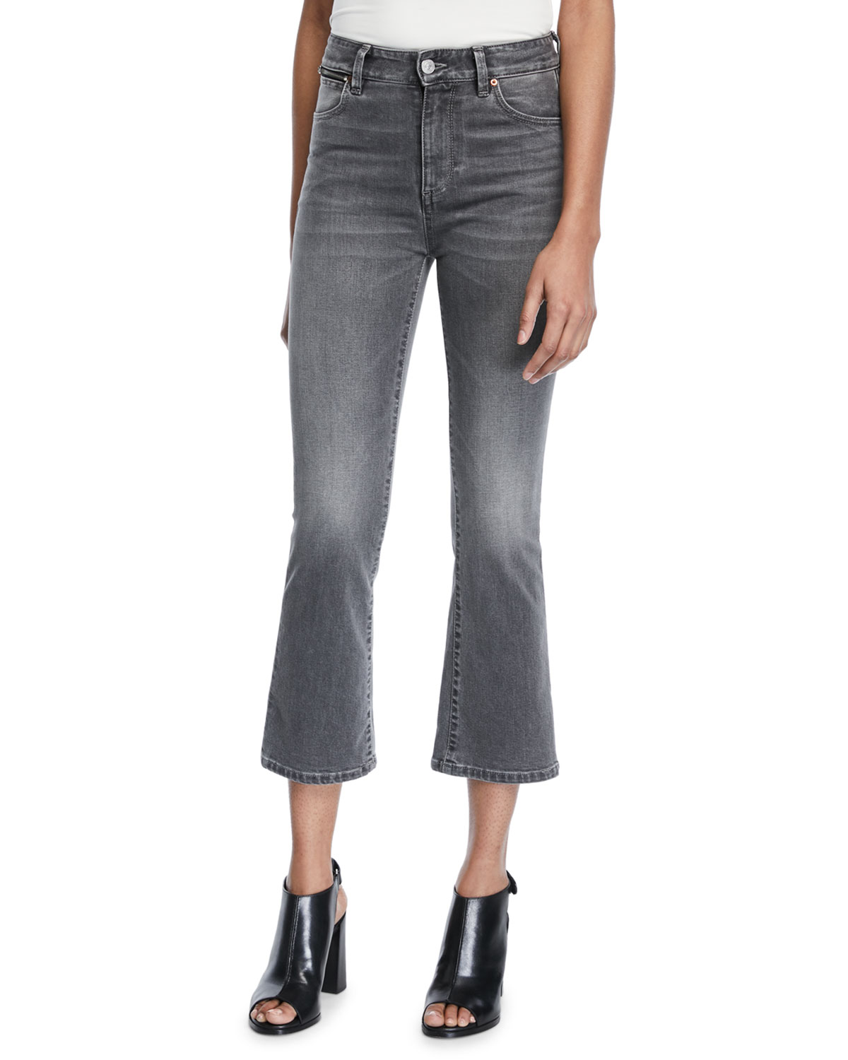 Phoebe High-Rise Crop Mini Flare Jeans