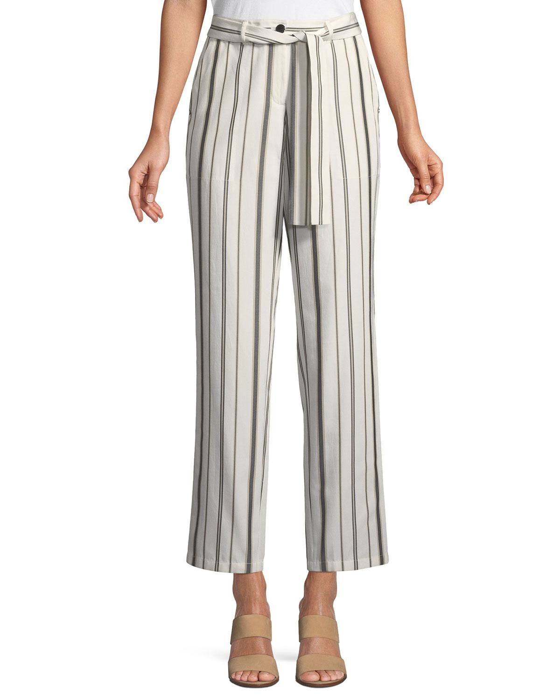 Fulton Gallant Striped Straight-Leg Pants