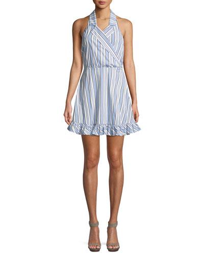 Nyssa Striped Halter Mini Dress