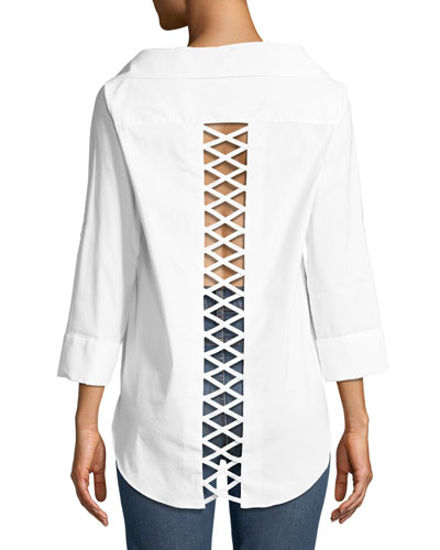 Finn Cross-Back Cutout Blouse