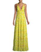 Karolina Floral-Print Tiered Maxi Dress