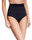 Jay High-Waist Tie-Front Swim Bikini Bottoms