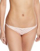 Tulum Tonal-Striped Swim Bikini Bottoms