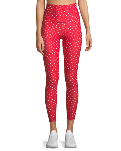 Beach Riot Harper High-Waist Heart-Print Leggings