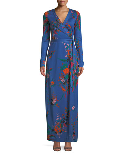 New Julian Floral-Print Silk Wrap Dress