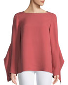 Lafayette 148 New York Catharina Double-Georgette Blouse