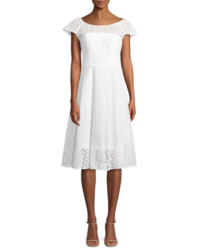 Cathy Eyelet A-Line Dress