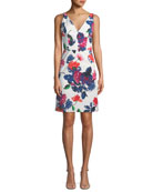 Milly Sandrine Floral-Print Mini Dress