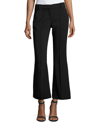 Felix Mid-Rise Seamed Flared Pants