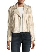 Leolani Metallic Leather Jacket
