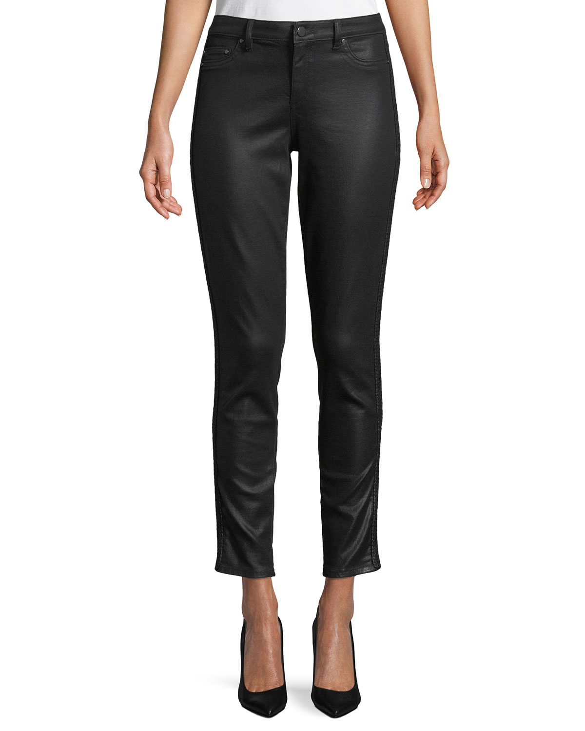 Azella Coated Skinny Ankle Jeans